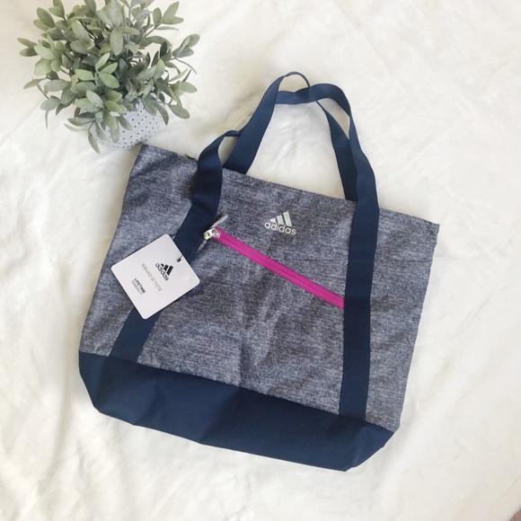 adidas Handbags - NWT ADIDAS SQUAD III TOTE BAG GREY, BLUE, & PINK